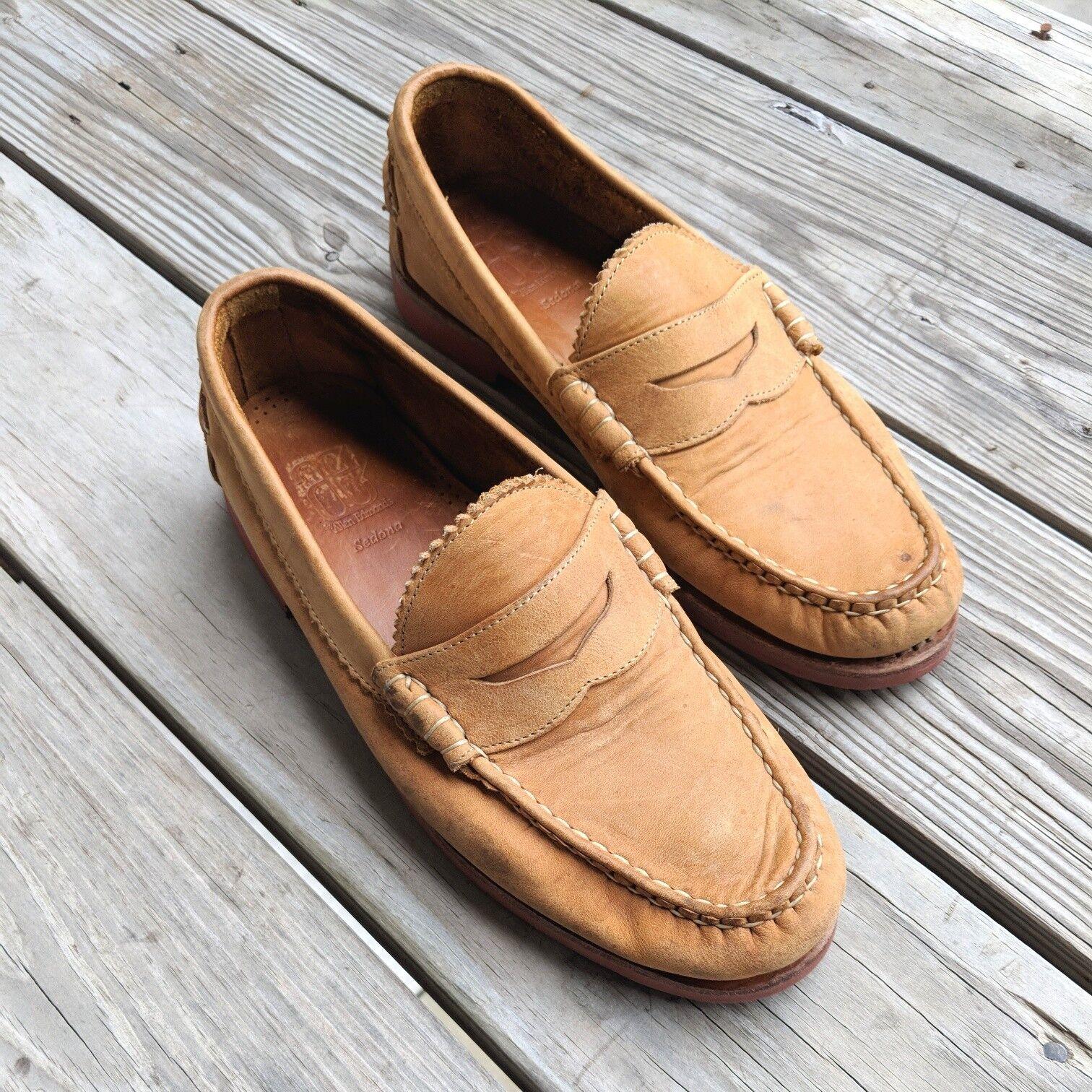 Mens Allen Edmonds 10.5 D Sedona Penny Loafers Leather Tan