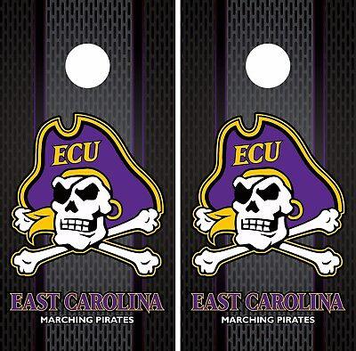 East Carolina Pirates Cornhole Skin Wrap NCAA College Luxury Design Vinyl DR344