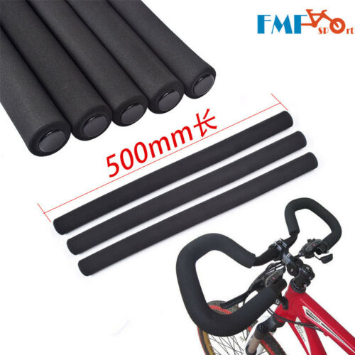 1 Pair MTB Bike Tube Sponge Handlebar Grips Cover Foam Rubber Grip Skidproof NEW