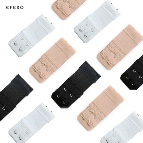 e697f86f5d 2 of 9 USA 6Pcs 2 Hooks Bra Extender Elastic Extension Back Clip Strap  Clasp Buckle New