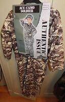 Halloween Costume Acu Camo Soldier Small Kid Size 4 To 6 Years Fun World 120e