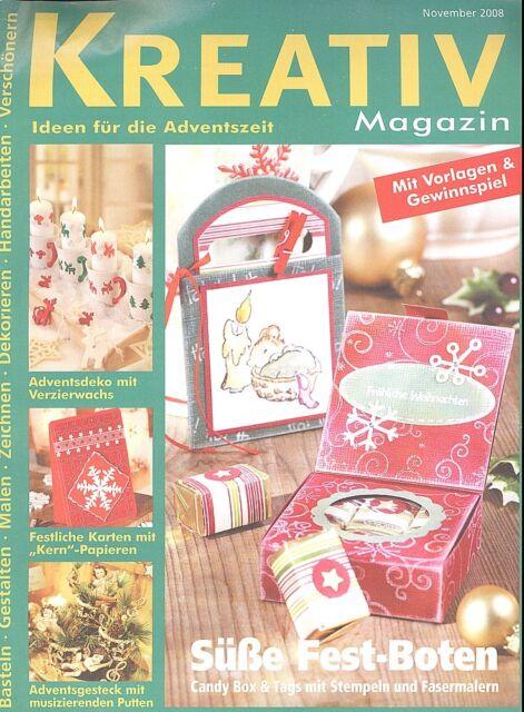 Kreativ Magazin - Ideen für die Adventszeit  November 2008