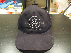 5888e4bf VINTAGE Garth Brooks World Tour Snap Back Hat Country Music Concert ...