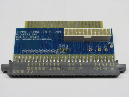 JAMMA PCB to Ms/ Pacman cabinet adapter board takes ATX power supply