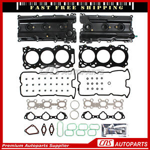 Head Gasket Set Intake Exhaust Valves for 05-09 Nissan Suzuki 4.0 DOHC VQ40DE