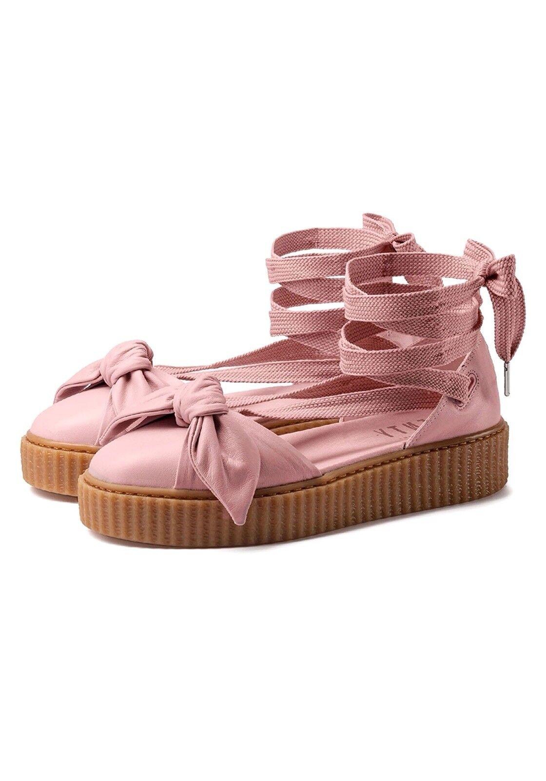 139.99 365794-01 Fenty Puma By Rihanna Women Bow Creeper Sandal silver pink