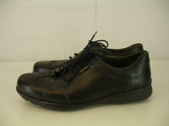 Mens US sz 9.5 M Mephisto Adriano Black Leather shoes Oxfords Air-Relax Lace-Up