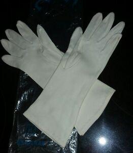 Vintage-Lee-Begman-Cotton-White-Gloves-w-Bag-Women-039-s-Size-6-1-2