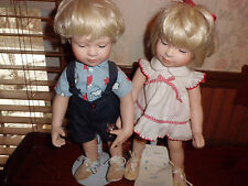 """Hamilton Collection 14"""" all  New Shoes by Donald Zolan porcelain dolls w/coa"""