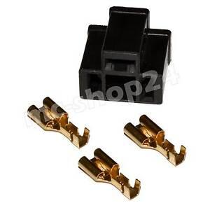 2x H4 Anschluss Stecker Fassung Sockel Lampensockel KFZ Auto P43t Crimp Kontakte