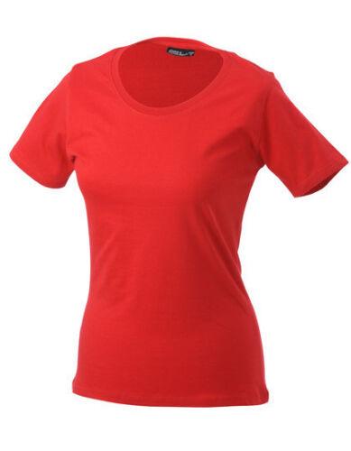 James /& Nicholson Damen T-Shirt LADIES BASIC-T Rundhals Kurzarm Neu JN901
