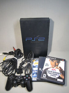 Sony PlayStation 2 PS2 Fat Console Tested Working+ AV + 1 Controler & 3 Games