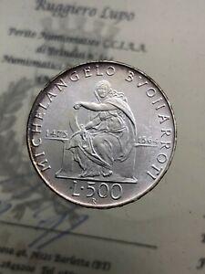 500-Livre-Michelangelo-Buonarroti-1975-FDC-der-Republik-Italienisch-Gedenkmuenzen