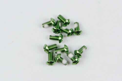 12PC MTB M5x10mm Schrauben Bolzen für Fahrrad Bremsscheibe Leichtmetall