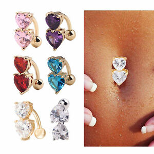 special for shoe good service favorable price Reverse Crystal Bar Belly Ring Gold Body Piercing Button ...
