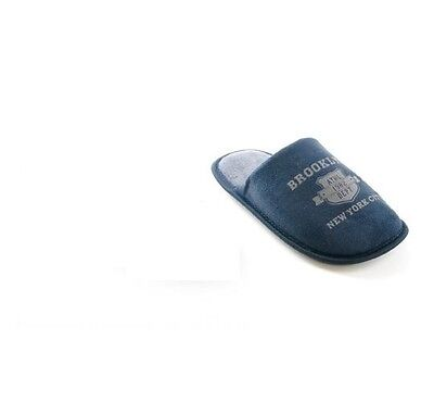 Boys Brooklyn Blue and Grey Slipper Mules