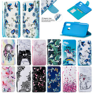 For-Xiaomi-Redmi-Go-7-7A-K20-Magnetic-Flip-Stand-Card-Wallet-Pattern-Case-Cover