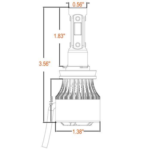 H8 H9 H11 LED 4-Sided Headlight Kit 280W 28000LM Low Beam Bulbs 6000K High Power