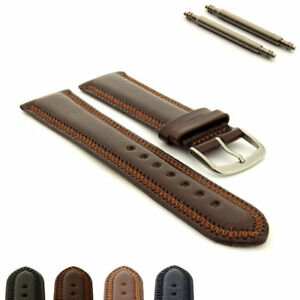 Classic-Genuine-Leather-Watch-Strap-Band-ZigZag-stitched-18-20-22-24-Florence-MM