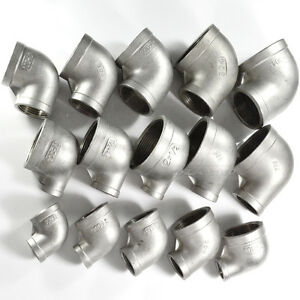 3-8-034-x1-4-034-Female-Threaded-Elbow-Reducer-Pipe-Fitting-90-Degree-angled-SS304-NPT