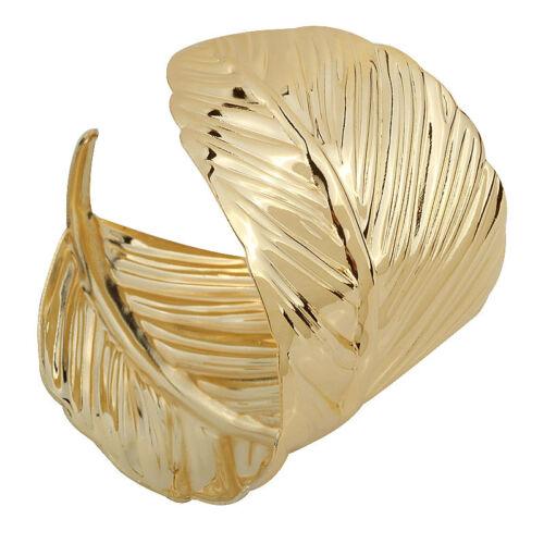 Gold Bracelet Feuille Bras Bracelet Band Cuff Bracelet Déesse César égyptien Reine NEUF