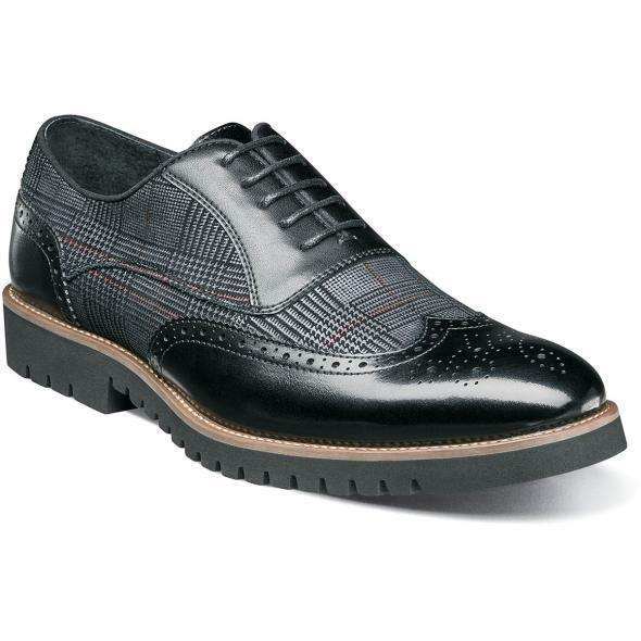 Stacy Adams Hombre Zapatos Baxley Detalle en los Bordes Oxford Negro 25217-001