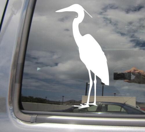 Heron Bird Great Egret Car Laptop Bumper Window Vinyl Decal Sticker 01316