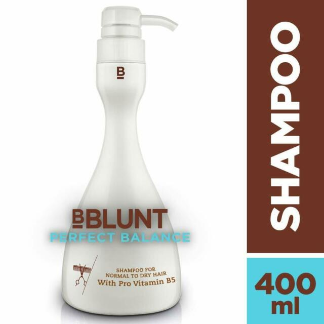 BBLUNT Perfect Balance Shampoo for Normal to Dry Hair 400ml -Enriched with gentl
