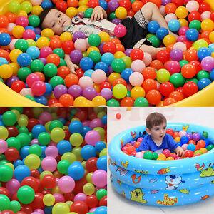 Lot-Baby-Kid-Secure-Pit-Toy-Swim-Soft-Plastic-Fun-Colorful-Ocean-Balls-5-5cm-7cm