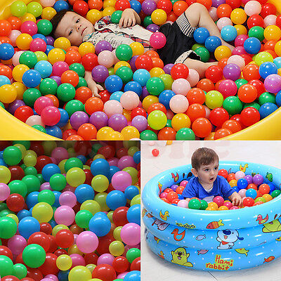 Lot New Colorful Ball Fun Ball Soft Plastic Ocean Ball Baby Kid Toy Swim Pit Toy