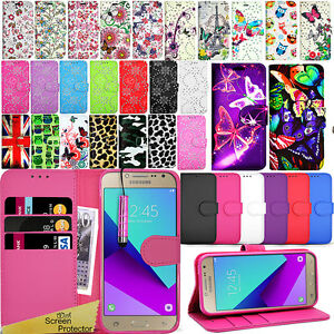 the best attitude 14cf7 b2b98 Details about For Samsung Galaxy J2 PRIME -Wallet Leather Case Flip Cover +  Screen Protector
