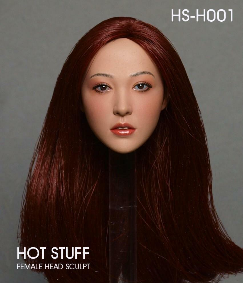 HOT STUFF 1 6 HS-H001 Asian Head Sculpt Carving Model F 12  Female Figures Body