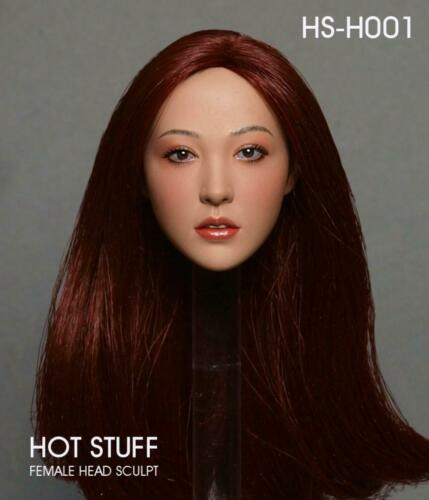 "HOT STUFF 1//6 HS-H001 Asian Head Sculpt Carving Model F 12/"" Female Figures Body"