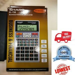 AU Stock Genuine Sharp EL-738 Business/Finan<wbr/>cial Calculator 2 years warranty
