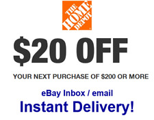 Days 2x Two Home Depot $20 Off $200 2COUPONS-FAST-InStore Exp 10