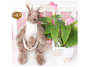 Hot Big Kangaroo Plush Toy Giant Soft Stuffed Animal Baby Doll Kid