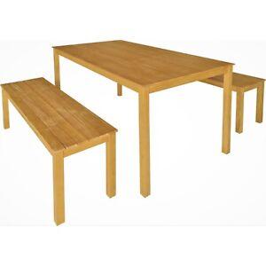 Awe Inspiring Details About 3Pc Timber Outdoor Dining Table Bench Seat Setting Hardwood Eucalyptus Natural Uwap Interior Chair Design Uwaporg