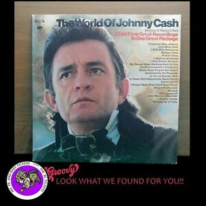 Johnny Cash The World Of Excellent 1970 Vinyl LP 1st pressing 2 LPs