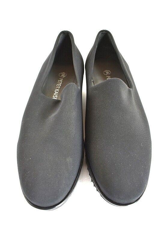 Peter Kaiser Femmes Pantoufles en Noir Textile Taille 37,5