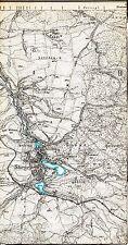 Stiege Kreuzwege 1910 Teilkarte/Ln. TK25 Selketalbahn Lerchenberg Pätzwinkel