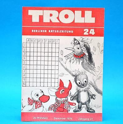 2019 Neuer Stil Troll 24 Dezember 1979 | Ddr Rätsel | Kreuzgitter Schachecke | Geburtstag X