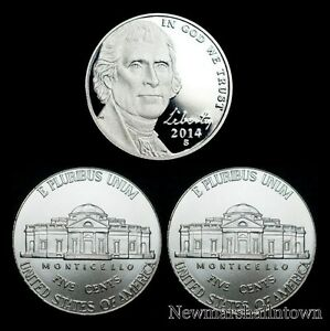 2014-P-D-S-Jefferson-Nickel-Mint-Proof-Set-PD-U-S-Coins-from-Bank-Rolls