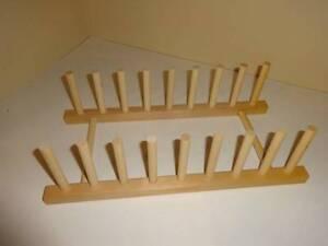 Wood Plate Display Rack Kitchen Organizer Drying Rack Craft Spool ...