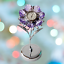 Crystocraft-Lilac-Flower-Crystal-Clock-Ornament-Swarovski-Elements-Gift-Boxed thumbnail 2