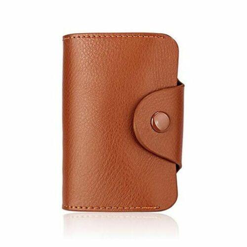 Men Wallet Genuine Leather Women Business ID Organizer Credit Card Holder Purse