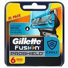 Gillette Fusion Proshield Flexball Chill Men's Razor Blades - Pack of 6 X 3 18