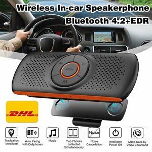 KFZ Bluetooth 4.2 Freisprecheinrichtung Freisprechanlage Sonnenblende Auto DE