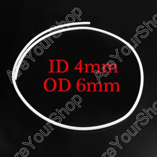 1M Teflon Bowden Tube Reprap 2x4mm//4x6mm Feed Tube PTFE For 3D Printer 1.75//3mm