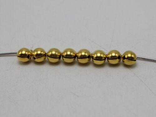 100 Golden JINGLE BELLS~Christmas Bell~Beads Charms 6mm Decoration DIY Craft