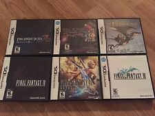 Final Fantasy Ds Lot Of 7 A2 Tactics Ring Fate 3 4 Heroes Xii Iv Cib 3ds Dsi Xl